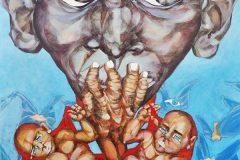 7-Fame-nel-mondo-tecn-mixed-on-canvas-110x110cm