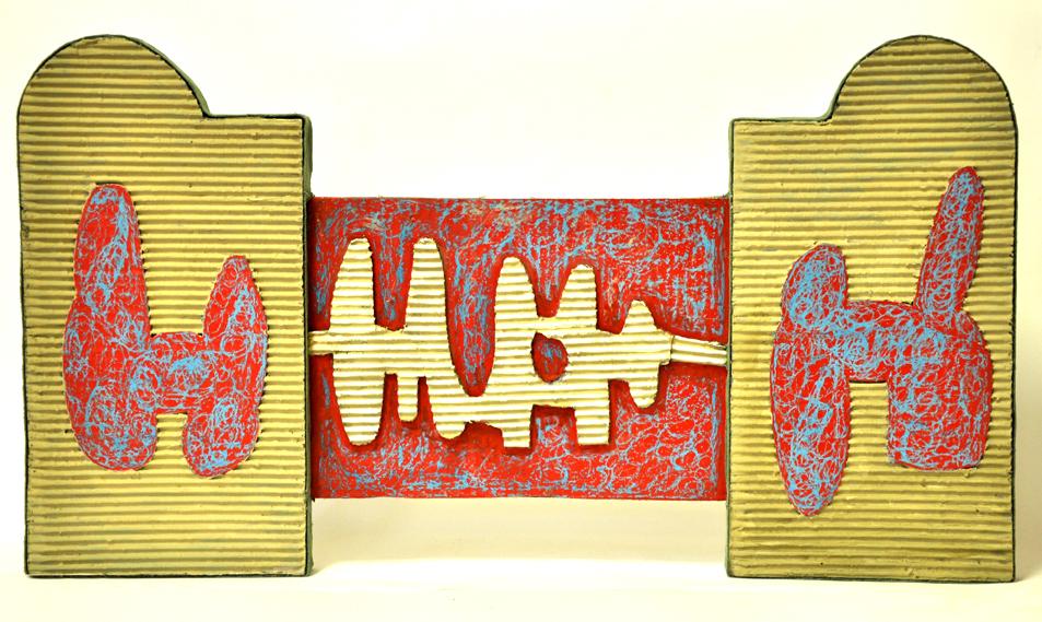 cartone ,resina, 80x40x5cm