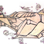 mail 16 graite,acrilico su tela,50x80cm