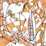 mail 27, grafite, acrilico su tela,60x80cm