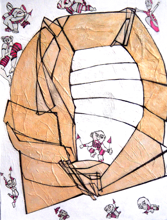 mail 27grafite,acrilico su tela,60x80cm