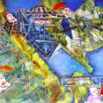 paesaggi paralleli3 1mx1m tec mist su tela