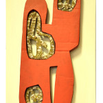 scultura ,cartone,policromo,60x90x6cm