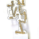 scultura legno policromo,1,20x50cm