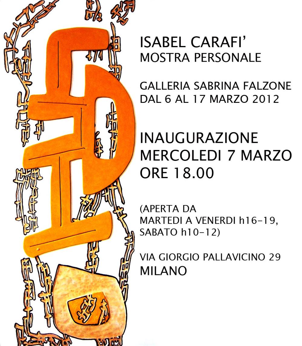 Locandina Sabrina Falzone - Milano